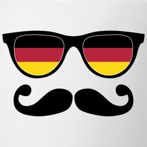 german mustache glasses nerd - like a sir Flaschen & Tassen - Tasse