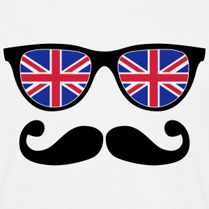 english mustache glasses nerd - like a sir T-Shirts - Männer T-Shirt