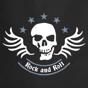rock_and_roll_skull_2c Forklær - Kokkeforkle