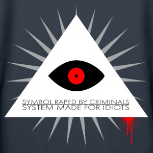 Symbol raped by criminals, system made for idiots  Sweat-shirts - Sweat-shirt à capuche Premium pour femmes