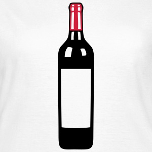 bouteille vin rouge pinard bottle wine Tee shirts - T-shirt Femme
