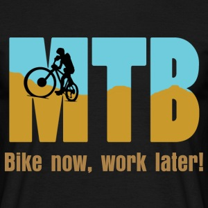 MTB with Biker T-Shirts - Men's T-Shirt