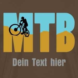 MTB with Biker T-Shirts - Men's Premium T-Shirt