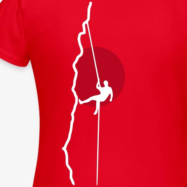Kletterer beim Abseilen (women)