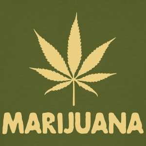 marijuana with leaf Tee shirts - T-shirt bio Homme