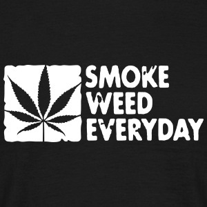 smoke weed everyday boxed T-shirts - Mannen T-shirt