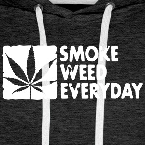 smoke weed everyday boxed Sweat-shirts - Sweat-shirt à capuche Premium pour hommes