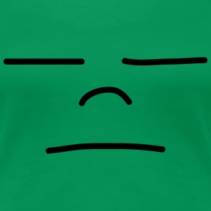 Sad Face T-shirts - Vrouwen Premium T-shirt