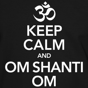 Keep Calm And Om Shanti Om T-skjorter - Kontrast-T-skjorte for menn
