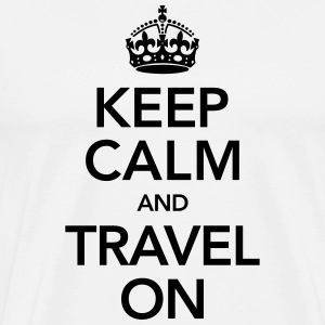 Keep Calm And Travel On T-shirts - Premium-T-shirt herr