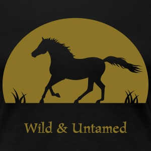 Sunset Horse wild and untamed T-Shirts - Frauen Premium T-Shirt
