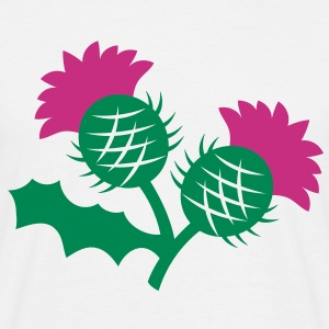 scottish thistle flower with two heads T-Shirts - Men's T-Shirt