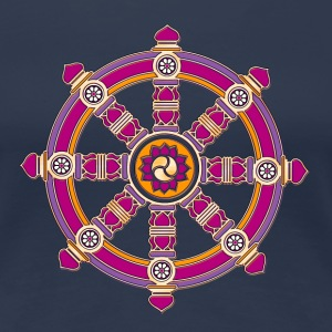 Dharmachakra, Darma Wheel of Law, Buddhist Symbol T-Shirts - Women's Premium T-Shirt