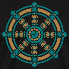 Dharma Wheel, Dharmachakra Wheel of Fortune T-Shirts