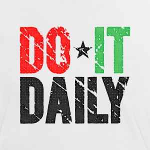 Do It Daily | Washed Out  T-Shirts - Women's Ringer T-Shirt