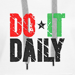Do It Daily | Washed Out  Sudaderas - Sudadera con capucha premium para mujer