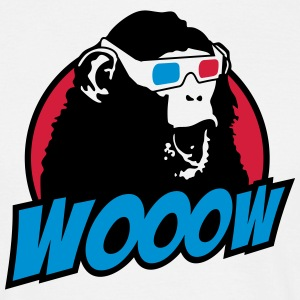 3D Glasses amazed Monkey T-shirts - T-shirt herr