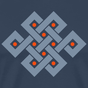 Tibetan endless knot, eternal, buddhism, Eternity T-Shirts - Men's Premium T-Shirt