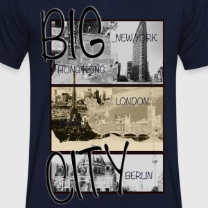 Big City Berlin London New York - Männer T-Shirt mit V-Ausschnitt