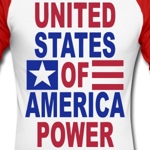 united states power Long sleeve shirts - Men's Long Sleeve Baseball T-Shirt