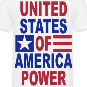 united states power T-Shirts - Men's T-Shirt