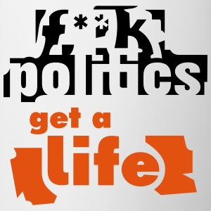 f**k politics Bottles & Mugs - Mug