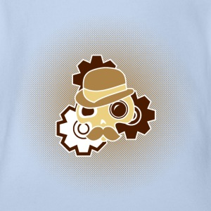 Digitalstoff-Schädel: Sir Steampunk Shirts - Organic Short-sleeved Baby Bodysuit