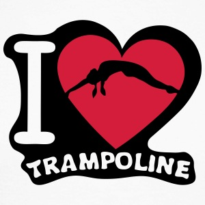 i love trampoline coeur heart 1 Tee shirts manches longues - T-shirt baseball manches longues Homme