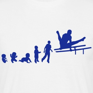 evolution barre parallele gymnastique Tee shirts - T-shirt Homme