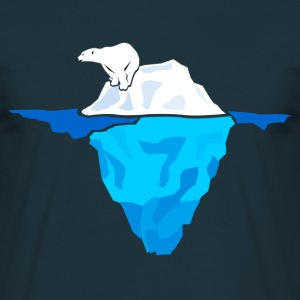 Polar Bear on Iceberg  T-Shirts - Men's T-Shirt