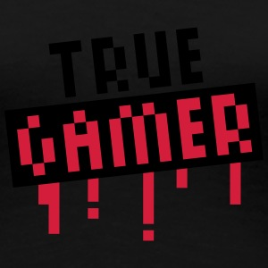 True Gamer Stamp T-shirts - Dame premium T-shirt