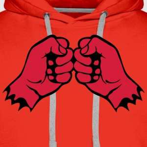 poing face cogne fist 1106 Sweat-shirts - Sweat-shirt à capuche Premium pour hommes