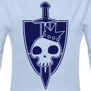 Vektor-Skulls: Kings Blade and Shield Pullover & Hoodies - Baby Bio-Langarm-Body