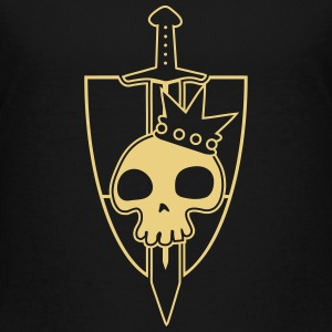 Vektor-Skulls: Kings Blade and Shield Shirts - Kinderen Premium T-shirt