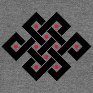 Tibetan endless knot, eternal, buddhism, spiritual Hoodies & Sweatshirts - Women's Boat Neck Long Sleeve Top