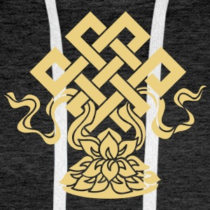 Eternal Knot, Endless, Lotus, Tibetan Buddhism, Hoodies & Sweatshirts - Men's Premium Hoodie