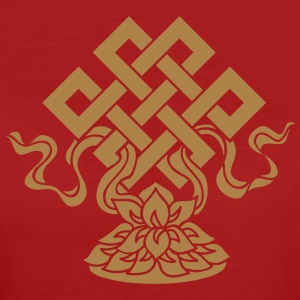 Eternal Knot, Endless, Lotus, Tibetan Buddhism, T-Shirts - Women's Organic T-shirt