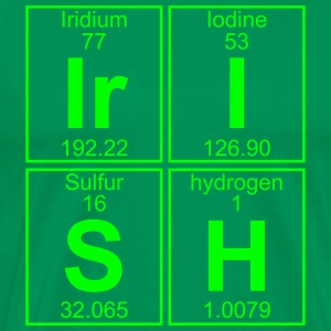Ir-I-S-H (irish) - Full T-skjorter - Premium T-skjorte for menn
