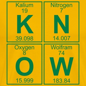 K-N-O-W (know) - Full T-skjorter - Premium T-skjorte for menn