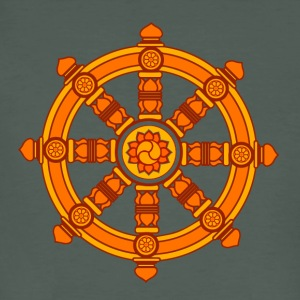 Dharma Wheel of Fortune, Buddhism, Chakra T-Shirts - Men's Organic T-shirt