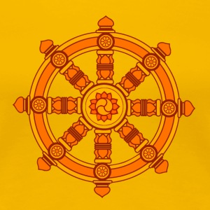 Dharma Wheel of Fortune, Buddhism, Chakra T-shirts - Premium-T-shirt dam