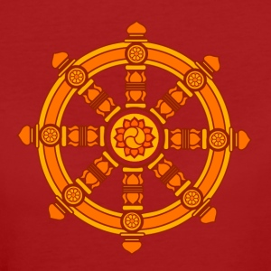 Dharma Wheel of Fortune, Buddhism, Chakra T-shirts - Organic damer