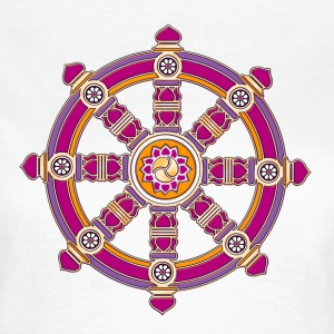 Dharmachakra, Darma Wheel of Law, Buddhist Symbol T-Shirts - Women's T-Shirt