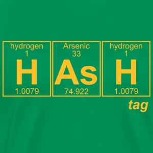 H-As-H (hash) - Full T-shirts - Mannen Premium T-shirt