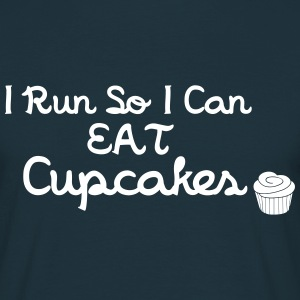 I Run So I Can Eat Cupcakes T-paidat - Miesten t-paita