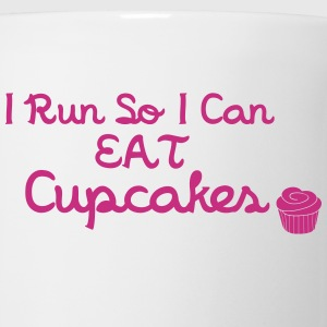 I Run So I Can Eat Cupcakes Flaskor & muggar - Mugg