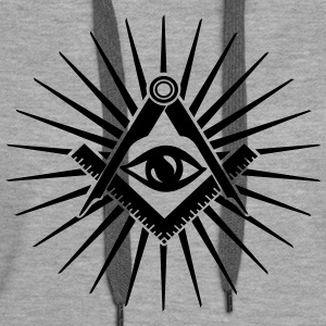 Masonic symbol, all seeing eye, freemason Sweat-shirts - Sweat-shirt à capuche Premium pour femmes