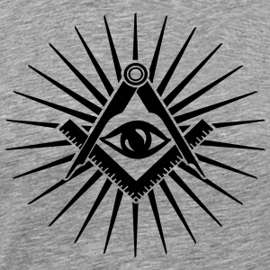 Masonic symbol, all seeing eye, freemason T-shirts - Mannen Premium T-shirt