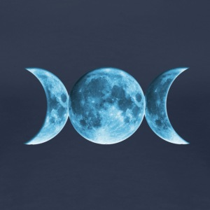 Wicca Blue Moon, pagan, Mond, Vollmond T-Shirts - Frauen Premium T-Shirt
