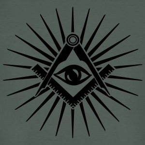Masonic symbol, all seeing eye, freemason T-Shirts - Männer Bio-T-Shirt